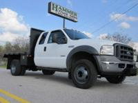 2005 Ford F-550 XL SD 10? x 96? Flatbed Extended Cab