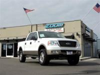Our 2005 Ford F-150 Lariat Crew Cab 4x4 is handsome in