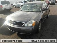 Clean CARFAX. This 2005 Ford Five Hundred SEL in Gray