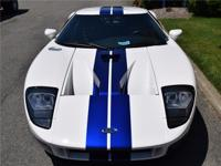 2005 Ford GT Centennial White with Blue painted racing