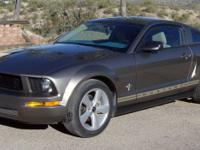 Grey metallic 2005 Ford Mustang. 4.0 liter V6 engine