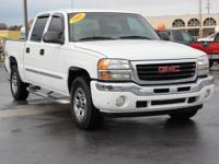 Clean CARFAX. This 2005 GMC Sierra 1500 SLE in White