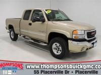 This 2005 GMC Sierra HD 4WD with the Diesel Engine and