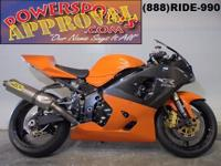 2005 GSXR600 Suzuki this is one nice bike! Looks
