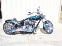 black 2005 hardy road king classic ,12400 miles.light