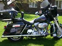 2005 Harley Davidson FLHT Electra Glide. The bike is in