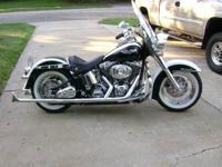 2005 Harley Davidson FLSTNI Softail Deluxe. This 2005