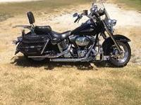2005 Harley Heritage Softail, 19,000 miles, all chromed
