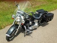 The motorbike is in excellent condition. The Black