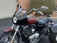 des:2005 Harley Sportster 1200 trike. Low miles