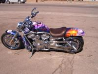 A CUSTOM 2005 Harley Davidson VROD. Incredible artwork,