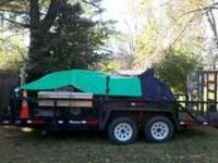 "2005 Holmes 16' Landscaping Trailer, 83 1/2"" between"