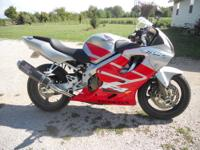2005 Honda CBR600 f4i. 16,000 miles on bike. Well