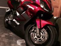 05 Honda CBR600f4i 24xxx miles Coffman exhaust Flush