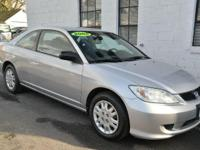 2005 HONDA CIVIC 'LX' COUPE! Financing! Warranty!