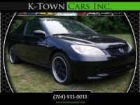 Options:  2005 Honda Civic Lx Coupe 2D|Black|No
