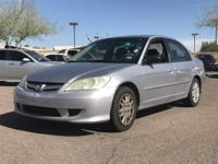 Clean CARFAX.  2005 Honda Civic LX 29/38mpg** 1.7L I4