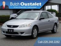CARFAX One-Owner. Clean CARFAX. Silver 2005 Honda Civic