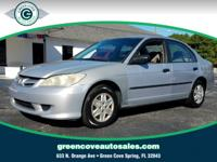 This 2005 Honda Civic VP in Silver features: Priced