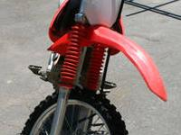 2005 HONDA CRF150 AFTER MARKET EXHAUST, HANDLEBARS WELL