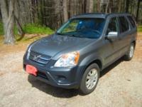 2005 CRV-EX SPORT UTILITY, 4WD, 5SP GUIDEBOOK
