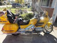 2005 GL1800 Yellow Motorcycle 30-year anniversary