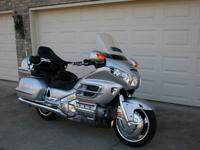This is a Silver 2005 Honda Gold Wing with 52,639 miles
