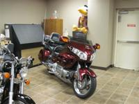 2005 Honda GoldWing 1800, dark cherry red with extra