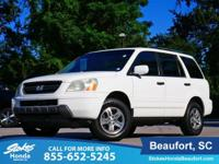 2005 Honda Pilot in White. Fuel miser. Stellar gas