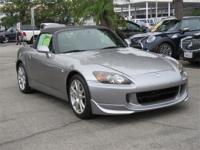 S2000 trim. Clean. WAS $20,000. Leather Seats, CD