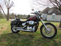 2005 Honda Shadow Spirit. appx 17,000 mi. saddlebags,
