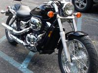 2005 HONDA SHADOW SPIRIT VT750DC, BLACK WITH LOTS OF