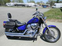 Hardtail styled rear suspension. 2005 Honda Shadow VLX
