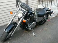 I have a lovely 2005 black chrome Honda Shadow with