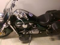 Engine: 1800: This also has a wind guard, saddlebags, a