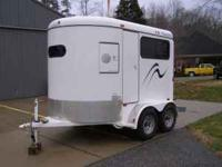 2005 CM two horse tag a long trailer. Good condition.