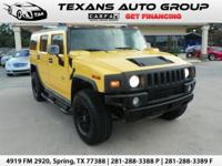 ***2005 HUMMER H2 AWD SUV YELLOW ON BLACK BRAND NEW