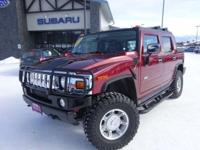 Options:  2005 Hummer H2 Sut Base|Maroon|Clean Carfax.