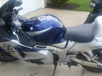 This 2005 Suzuki Hayabusa (or GSX1300R) is a sport bike