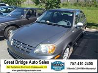 2005 Hyundai Accent CARS HAVE A 150 POINT INSP, OIL