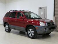 Red 2005 Hyundai Santa Fe GLS AWD 5-Speed Automatic
