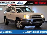 White 2005 Hyundai Santa Fe GLS AWD 5-Speed Automatic