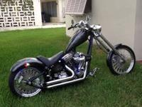 2005 Independence Softail chopper. Black with grey