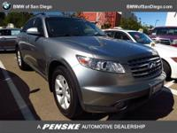 This 2005 Infiniti FX35 4dr 4dr AWD SUV features a 3.5L