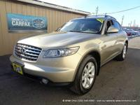 Carfax one owner 2005 infiniti fx35 all wheel drive!