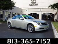 2005 Infiniti G35 Coupe Our Location is: Lexus Of Tampa