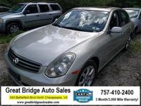 2005 INFINITI G35 CARS HAVE A 150 POINT INSP, OIL