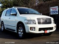 Meet our impressive 2005 INFINITI QX56 AWD in Tuscan