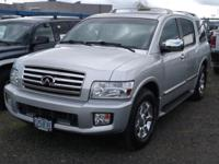 QX56 trim. Third Row Seat, Nav Software, Heated Natural