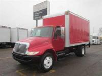 2005 I-H 4300 with a 16' van body. Mileage is 143,722.